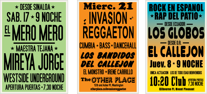 Spanish Concert Posters