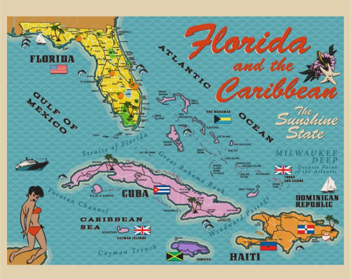 1960s Florida Map