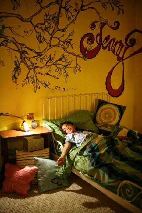Jenny Tucked into Bed