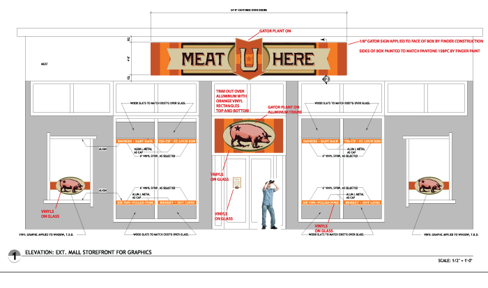 Meat U Here Layout