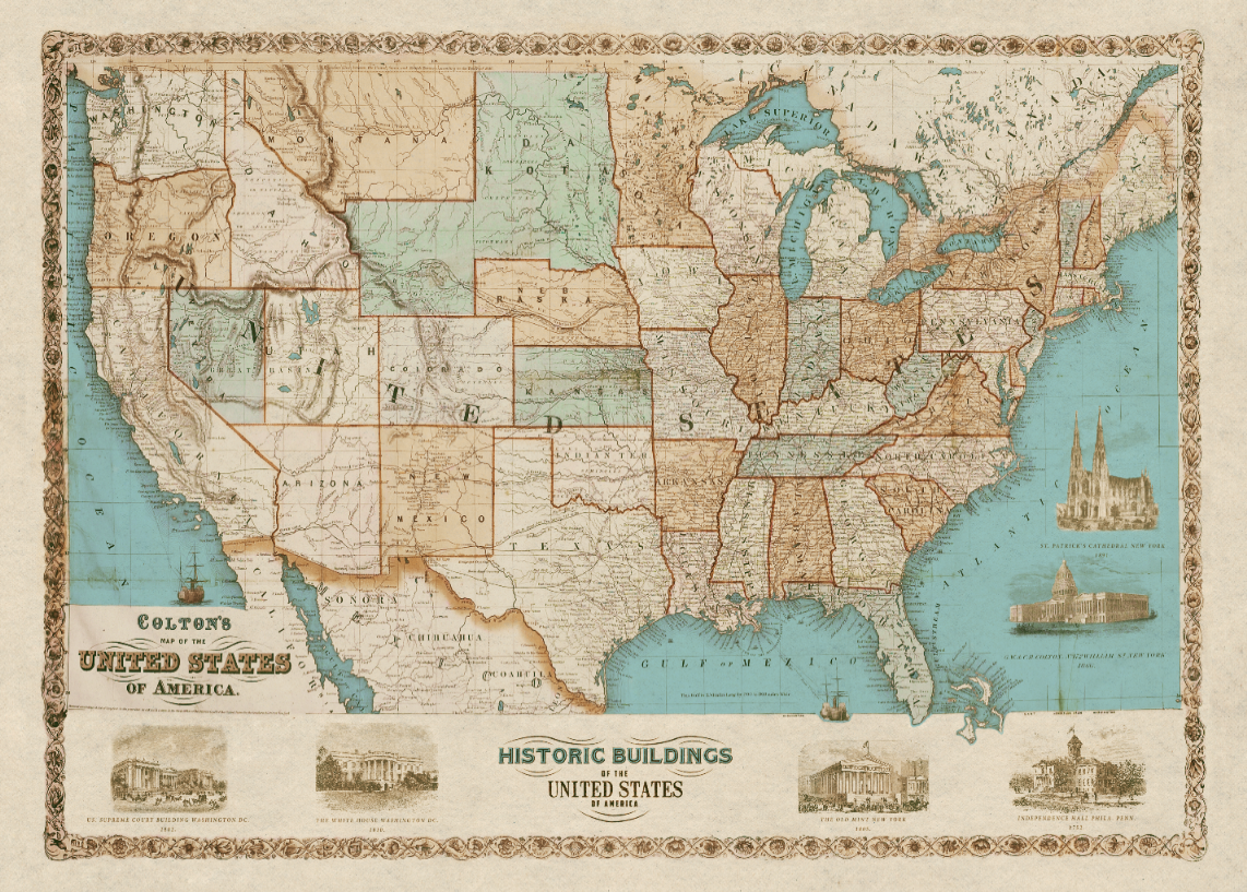 Old Map of US