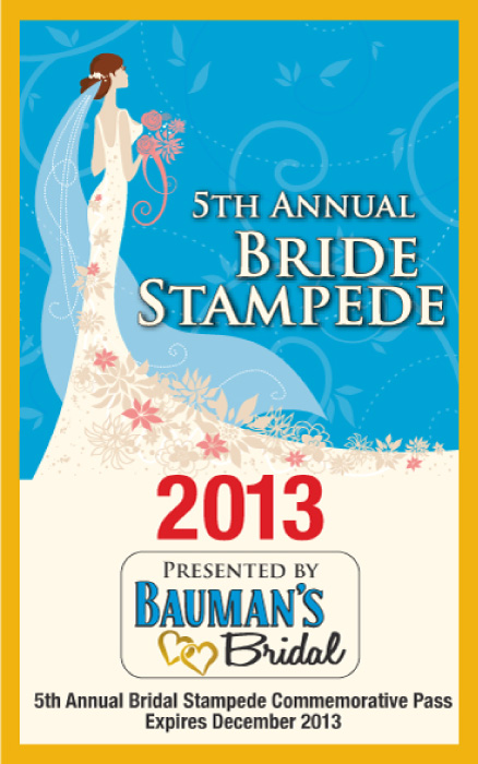 Credential for Bridal Stampede Race